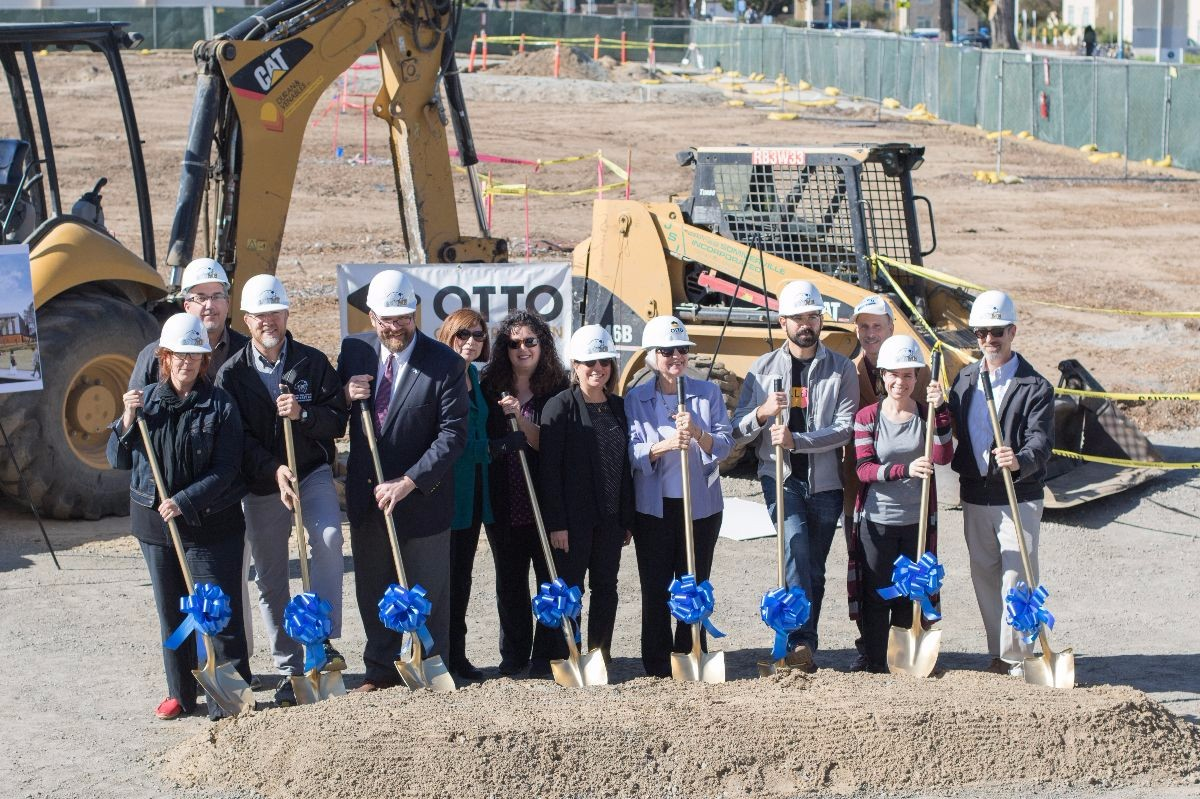 CAHSS Faculty and Staff at the groundbreaking celebration