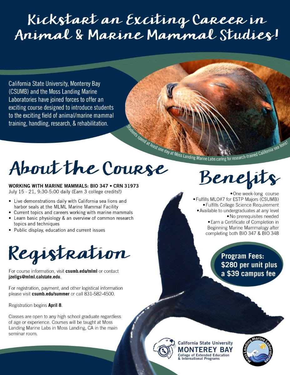 Marine Mammal Training Course