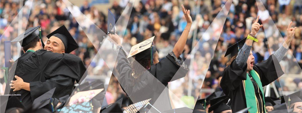 Graduates from CSUMB celebrate.