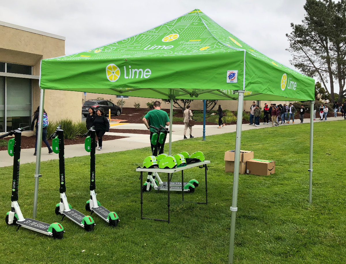 Lime Scooters at CSUMB