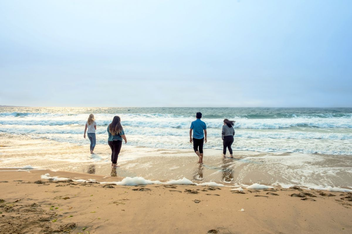 CSUMB students on the beach 1 mile from campus