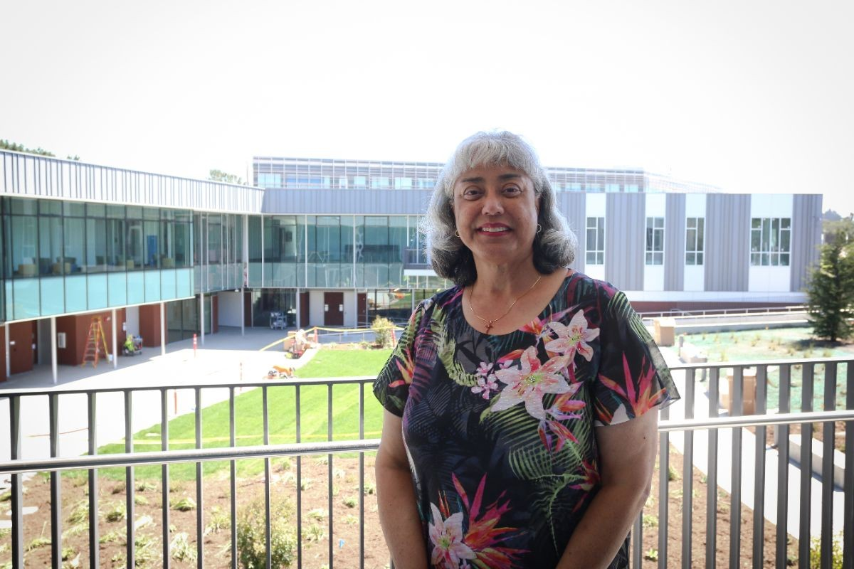 Reyola Carlisle at new liberal arts building