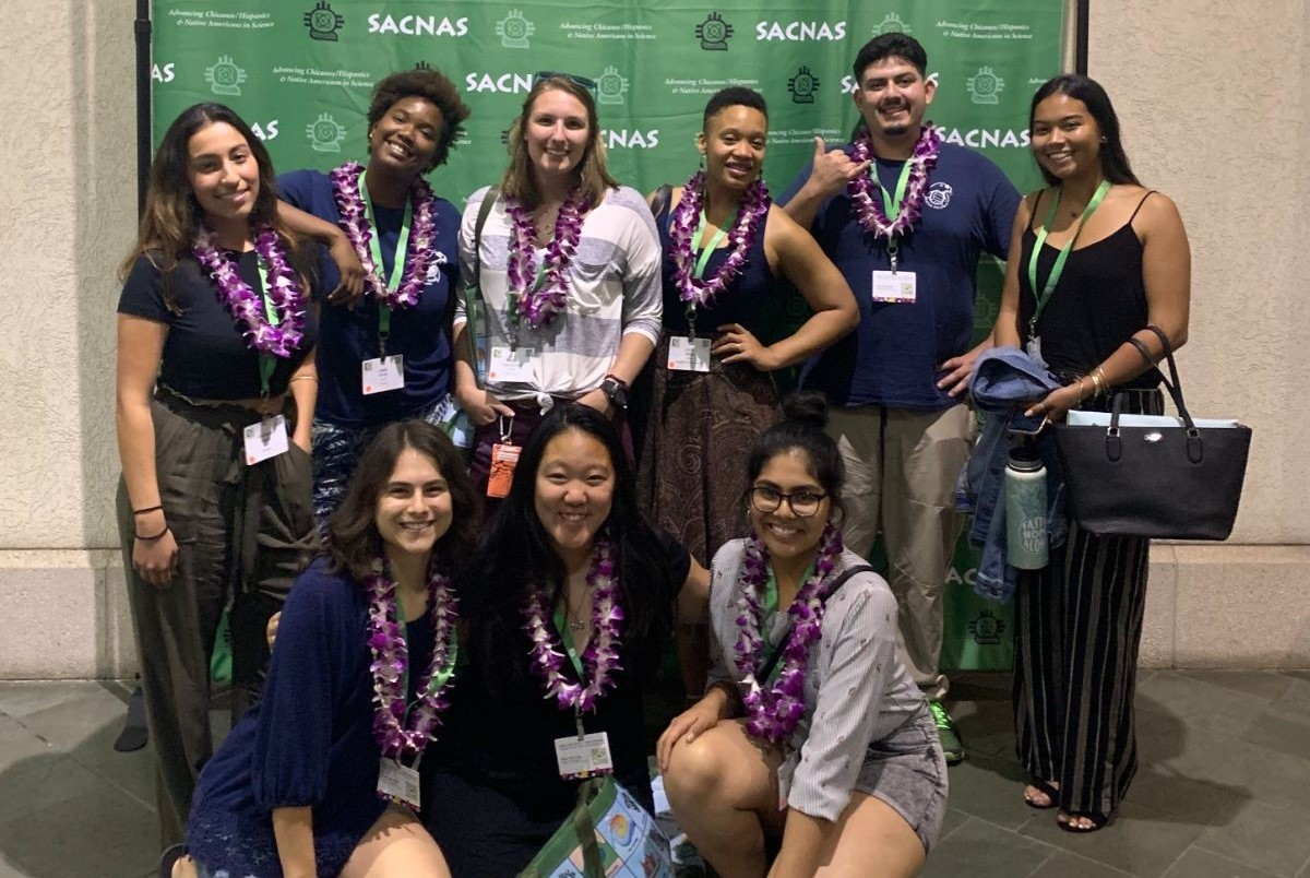 UROC Scholars and Researchers group photo at the 2019 SACNAS Conference