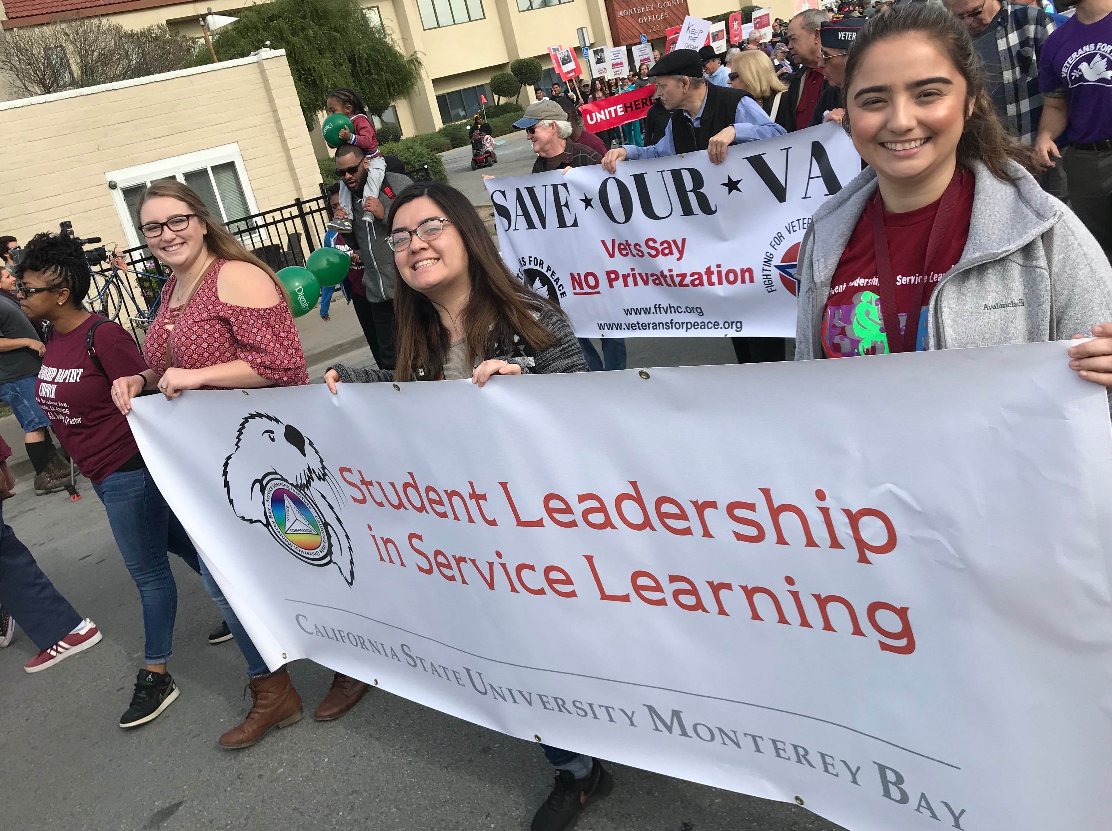 Service Learning Student Leaders, MLK Day March