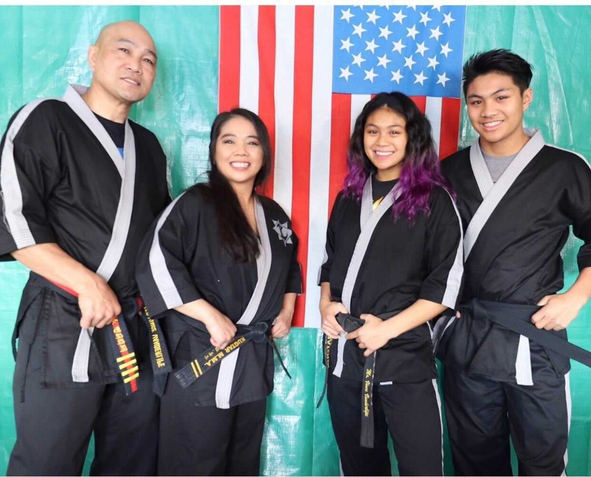 Four members of the martial arts Vanderlipe family