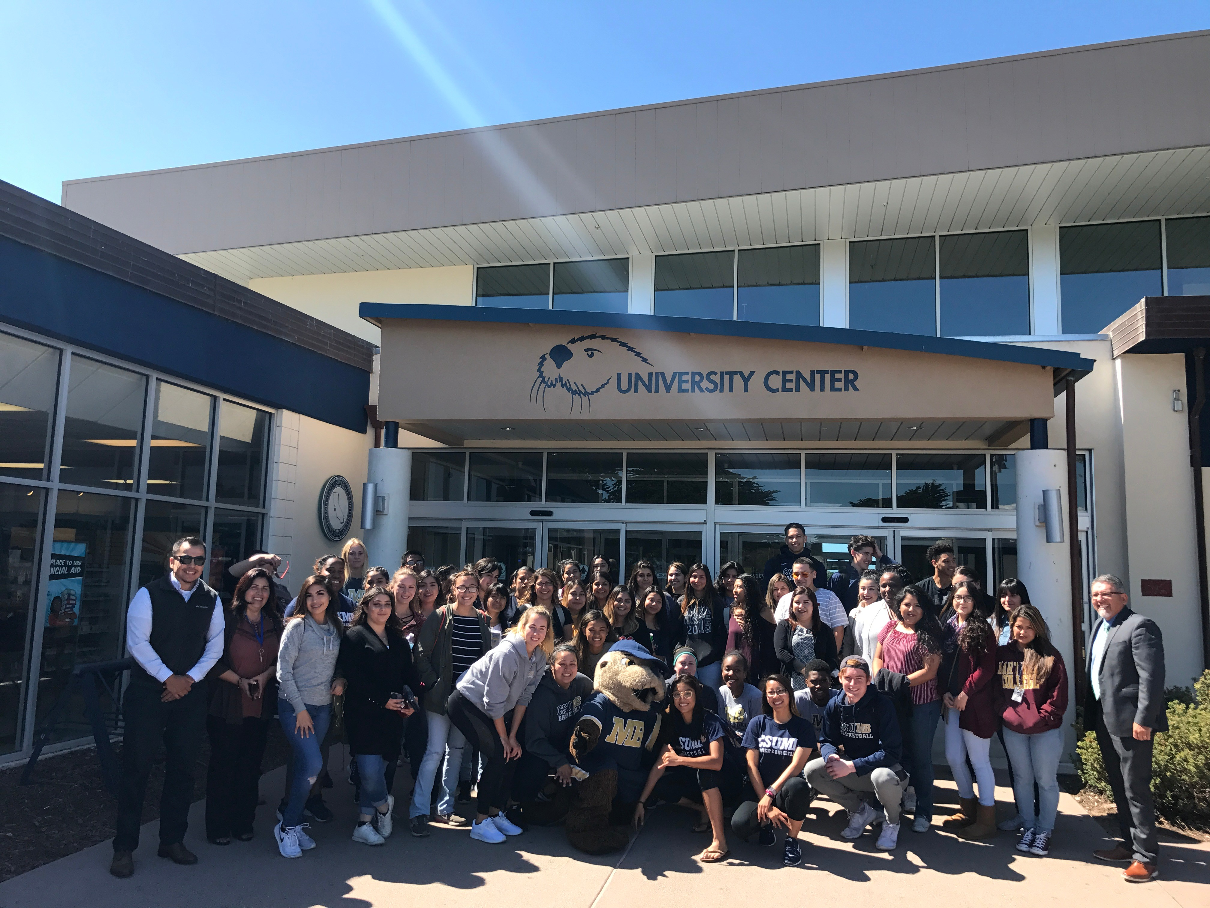 The first two Hartnell-CSUMB TPP Cohorts visiting the CSUMB campus.