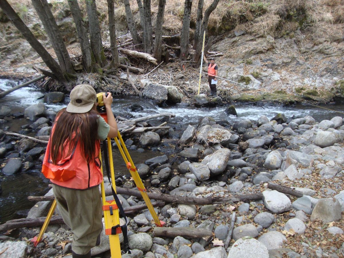 The lab students get a hands on education with geologic surveying tools.