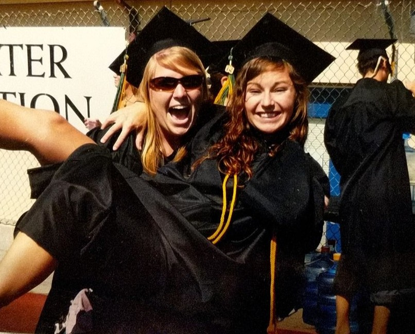 Katie and MacKenzie at graduation