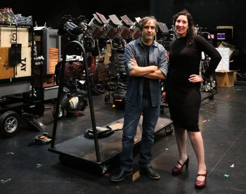 Luis Camara and Enid Ryce standing in CART studio