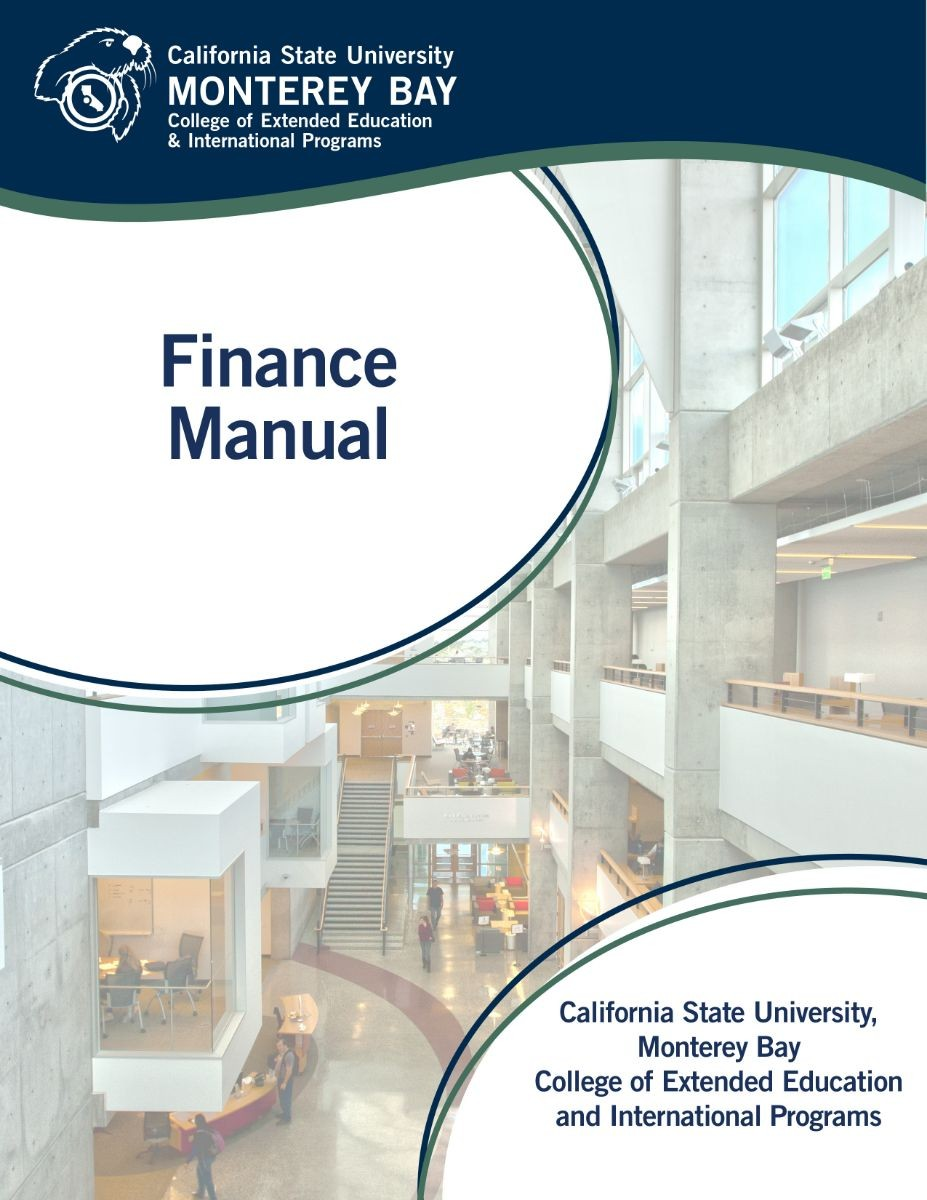 Picture of the cover for the Finance Manual