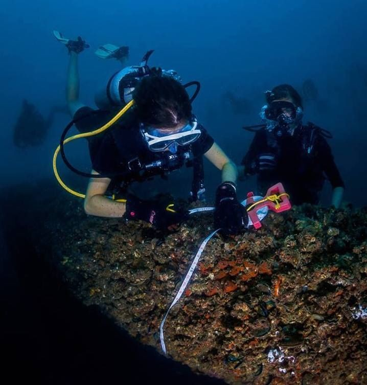 Melissa conducting coral research