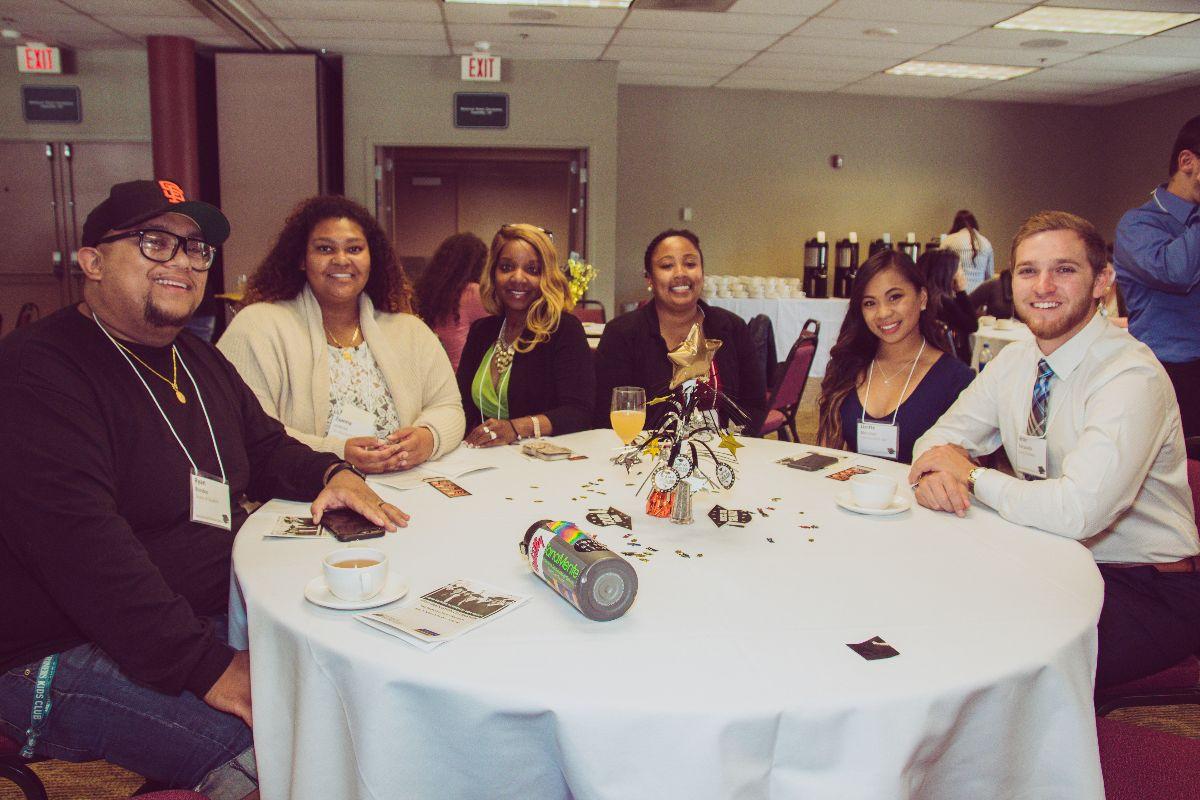 Group picture at a graduation celebration