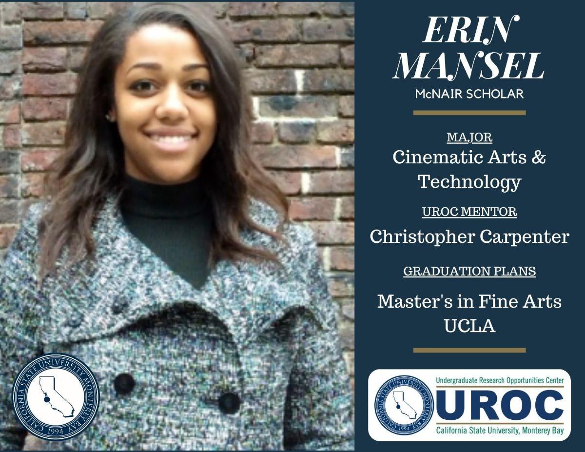 Graduation tribute to Erin Mansel