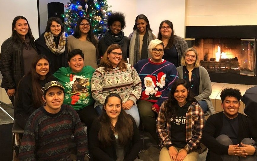 McNair Students at Holiday Dinner Celebration