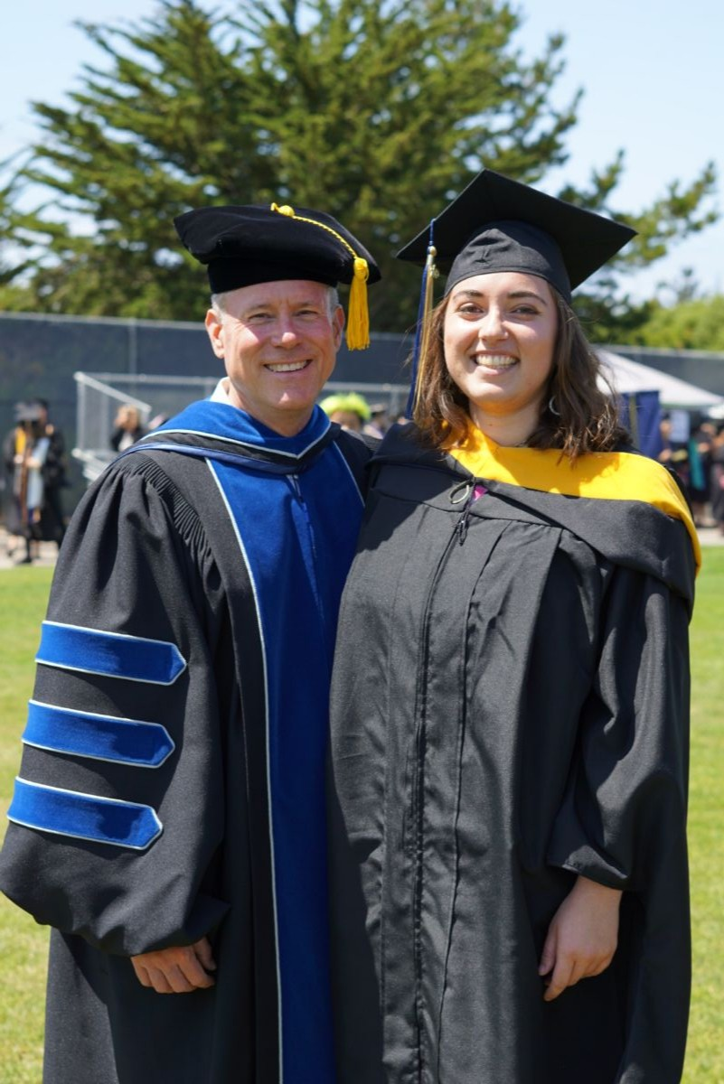 Arev w/ her faculty advisor Dr. John Olson