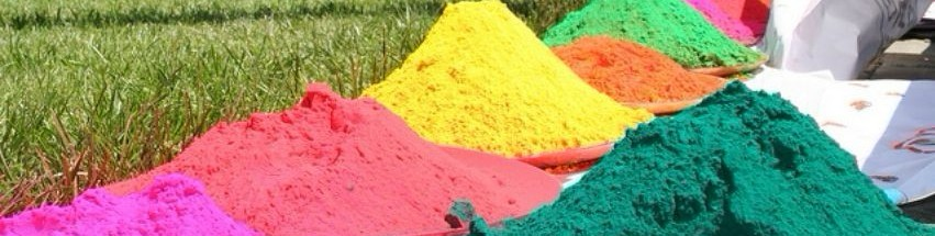 color powder used during holi festival