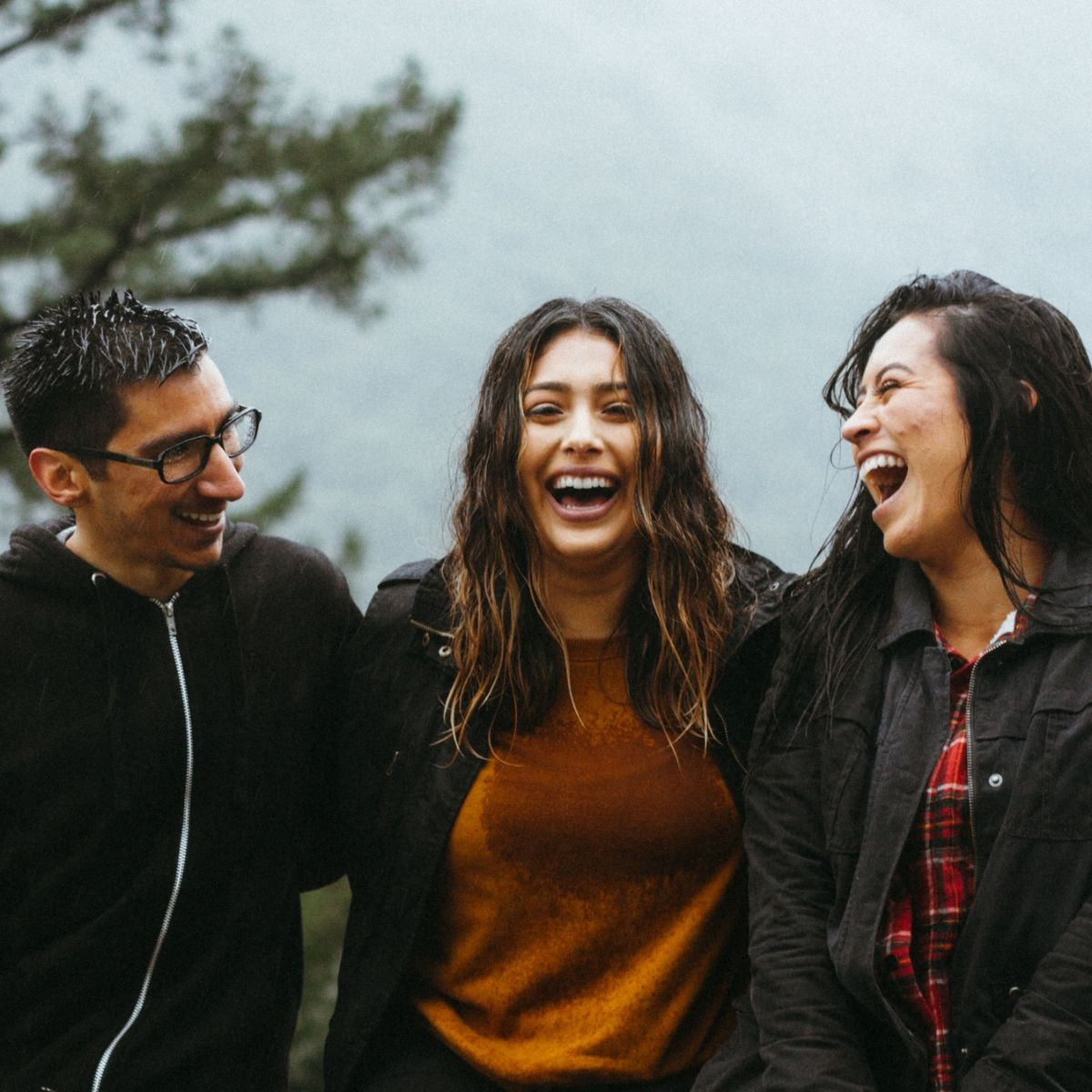stock photo - people laughing