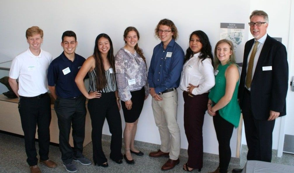 John Banks (far right) with UROC summer research presenters