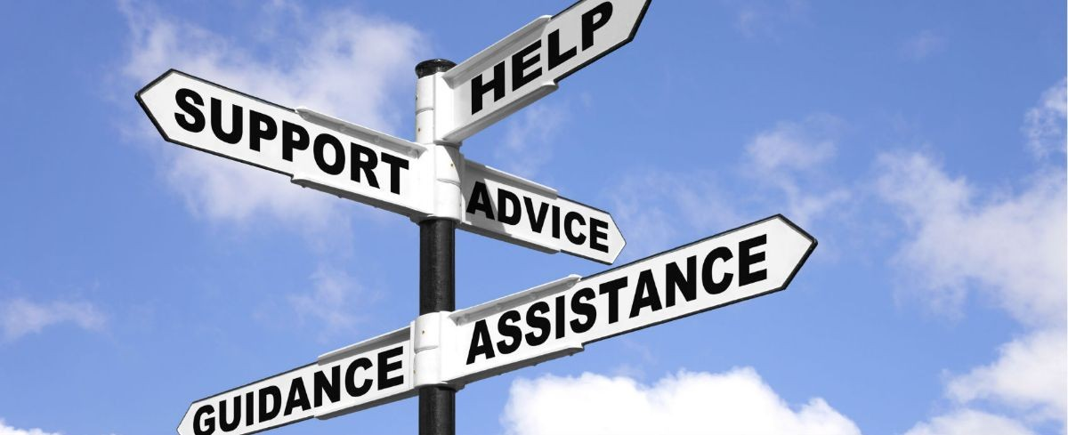 Direction to help, support, advice, guidance and assistance