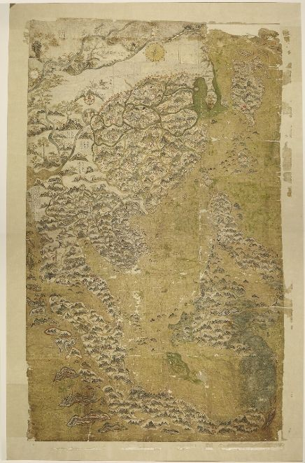 map of 17th century trade route