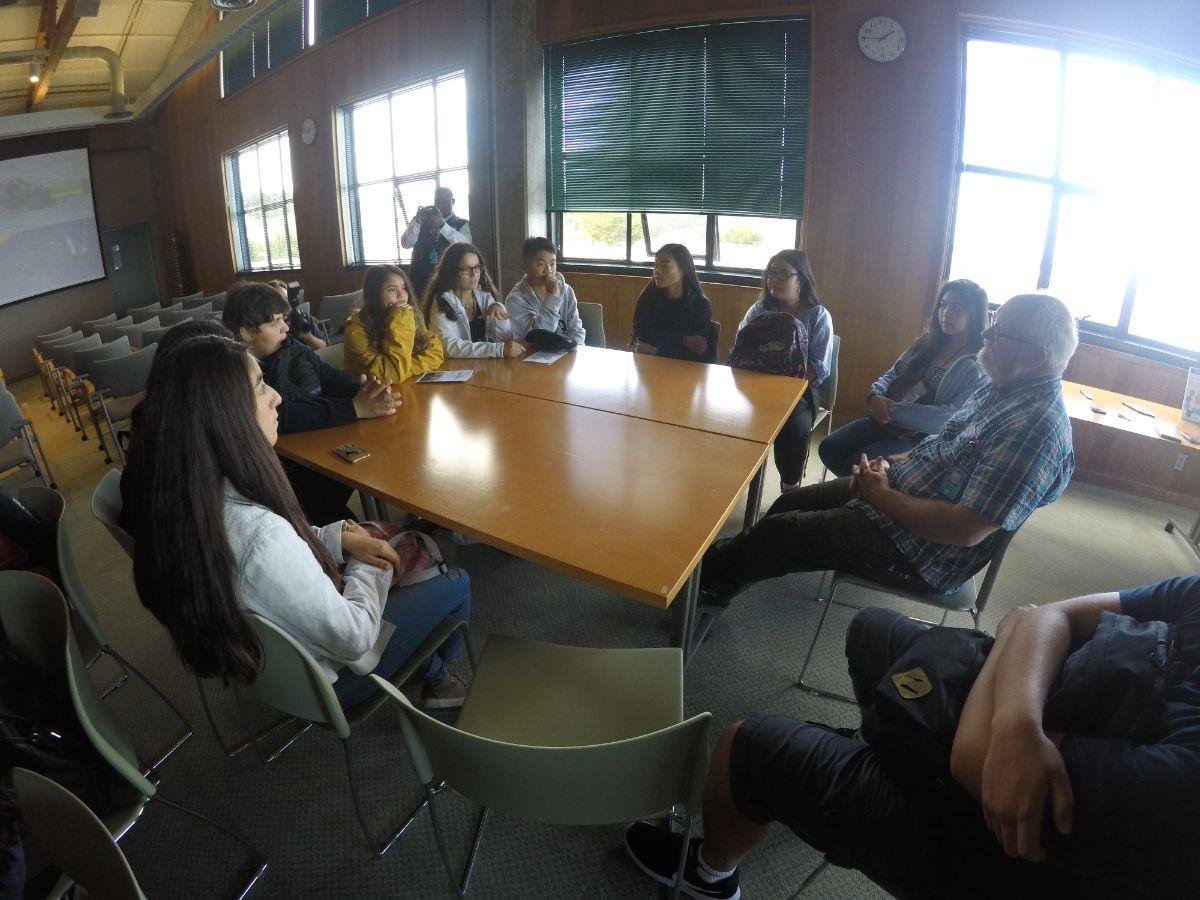 Students are provided information regarding the Monterey Bay Aquarium.