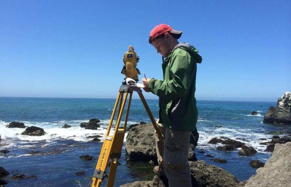 Student conducting intertidal survey