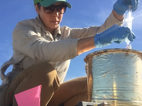 Graduate Student Stefanie Kortman and expert on Greenhouse Gases in Ag
