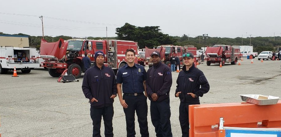 Four CAL-Fire firefighters