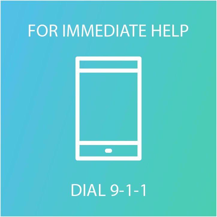 For immediate help dial 9-1-1