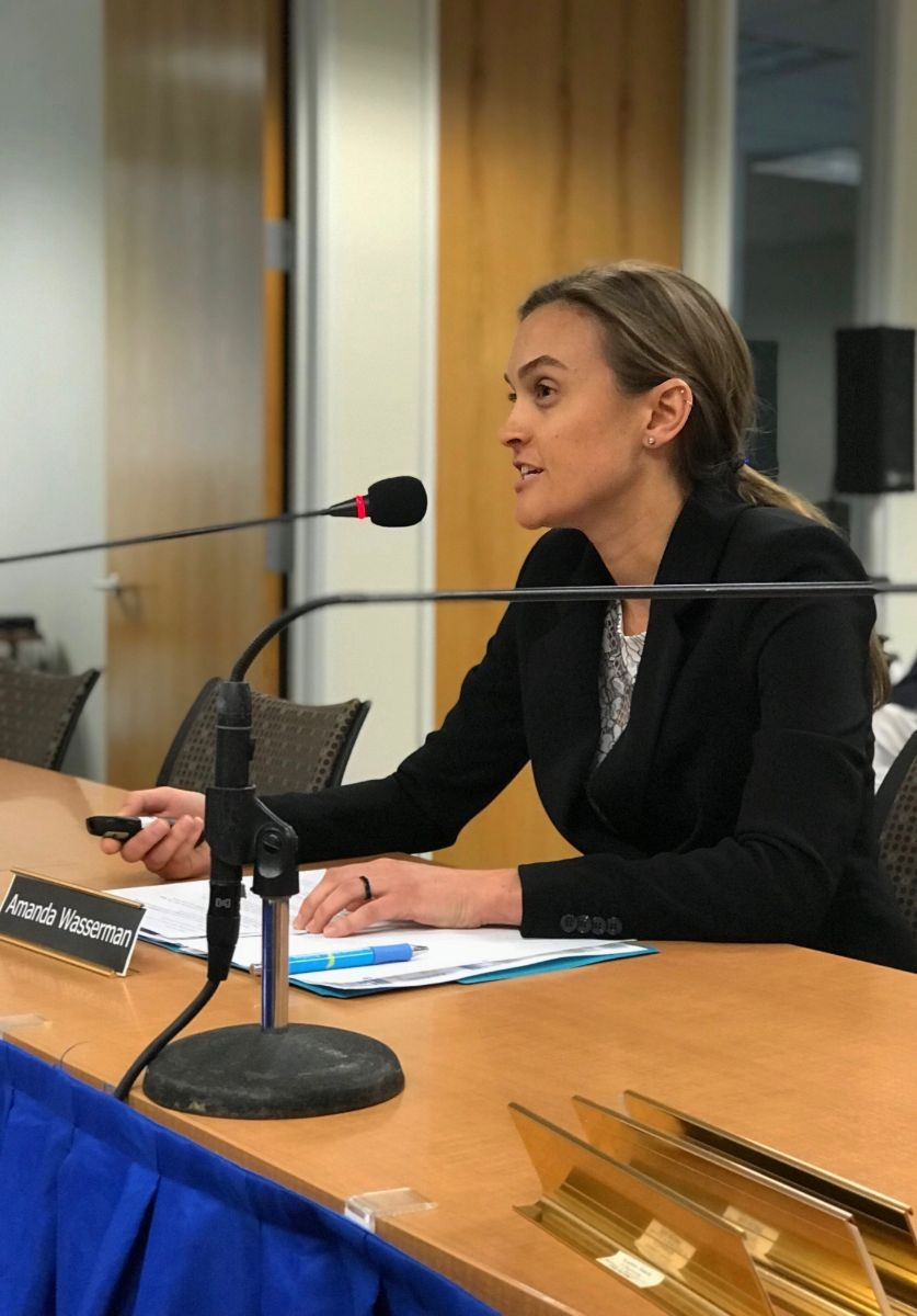 Amanda participating in a panel discussion