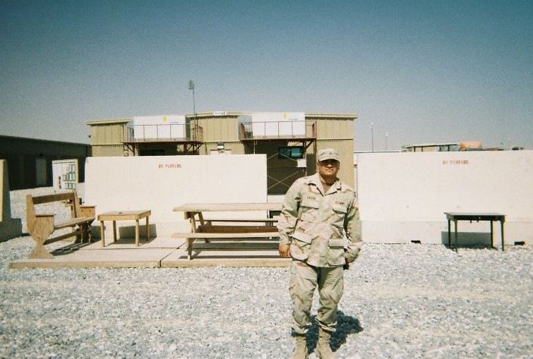 Anthony Lucero while stationed overseas in Kuwait